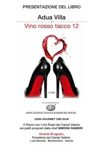 Vino rosso tacco 12 - Adua Villa