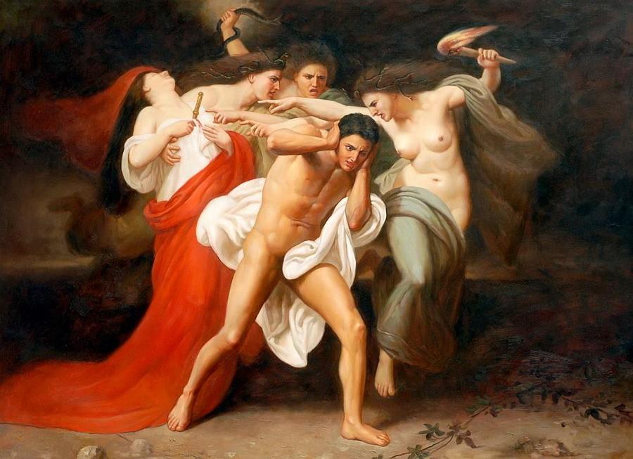 deiolimpici Le Furie perseguitano Oreste - by William Adolphe Bouguereau Pubblicazione incerta © dell'autore