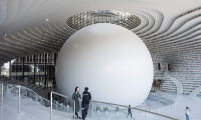 Una biblioteca futuristica in Cina