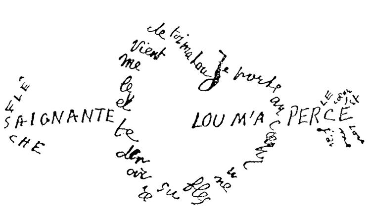 I carmi figurati del mondo antico e i calligrammi di Apollinaire